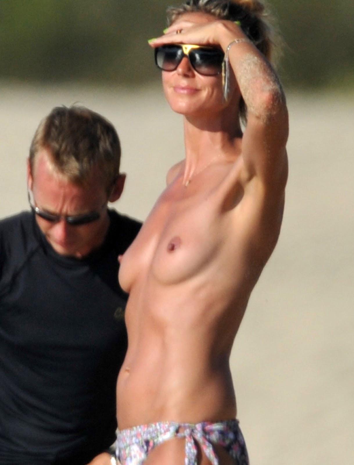 Heidi Klum Nude At The Beach