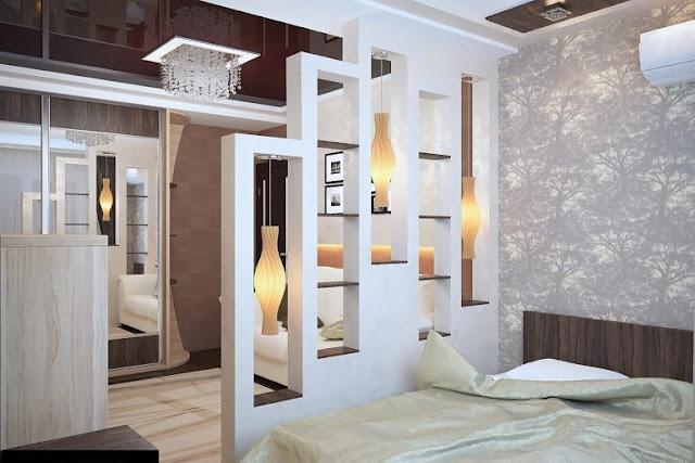 vách ngăn gỗ phòng ngủ- mẫu số 3