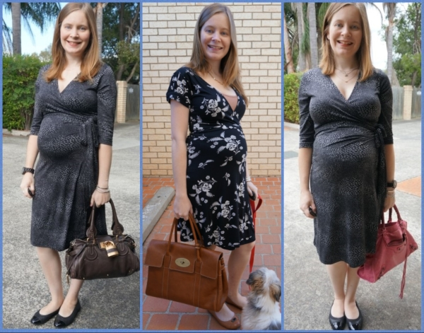 AwayFromBlue | Second Trimester Office Outfit Ideas Wrap Dresses