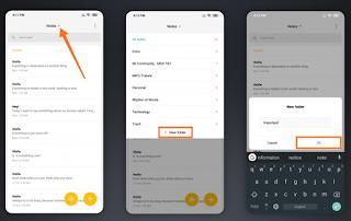 Cara Membuat Folder Untuk Mengatur Catatan Di Ponsel Xiaomi ! MIUI Notes !