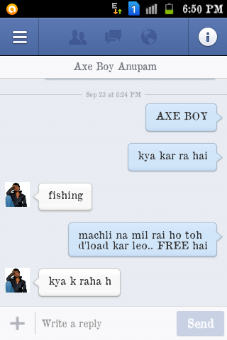 how to chat on facebook with boy