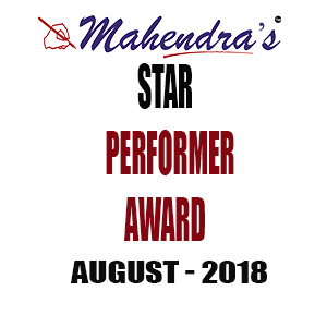 Star Performer Award August 2018 Final Result Declared