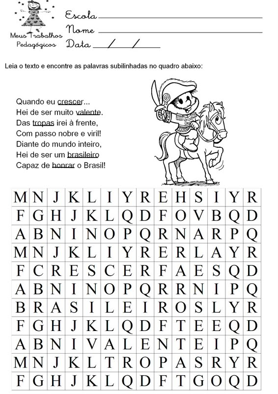 Atividades Educativas Escolares Da Independencia Do Brasil 7 De