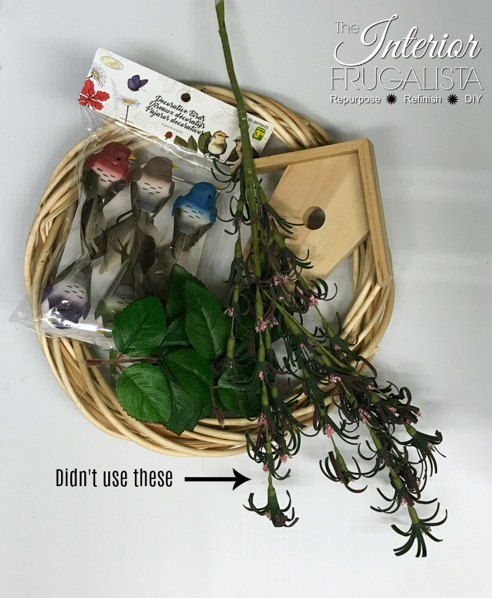Summer Birdhouse Wreath Supplies