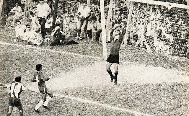 Paraguay y Chile en partido amistoso, 8 de junio de 1969