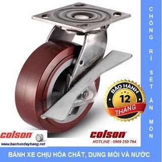 Bánh xe PU, bánh xe PU đỏ, bánh xe nhự PU, bánh xe PU tải trọng cao www.banhxedayhang.net
