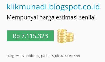 Harga Estimasi klikmunadi.blogspot.co.id