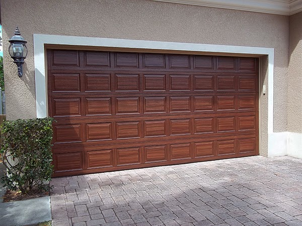 You Can Paint Your Garage Door To Look Like Wood