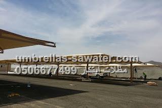 تركيب مشاريع مظلات مواقف سيارات في جميع مناطق المملكة