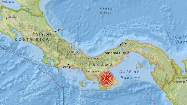 Terremoto de 6.6 grados en Panamá la noche de este 27 de enero