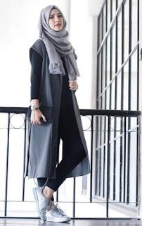 Contoh Coat, Cardigan, Blazer, Jaket Untuk Dipadukan Dengan Hijab Modern