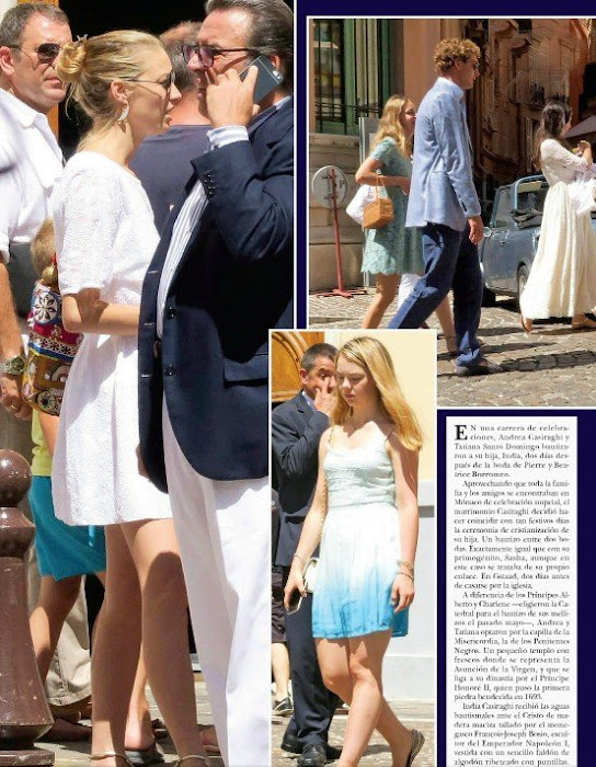 Princess Charlene of Monaco - Andrea Casiraghi and Tatiana Santo Domingo, Princess Caroline of Hanover, Beatrice Borromeo, Pierre Casiraghi, Charlotte Casiraghi