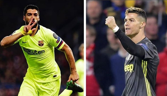 Suarez, Ronaldo On Score Sheet As Barca Win and Juve Draw