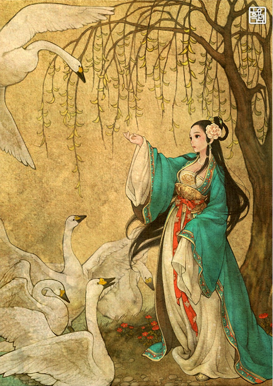 Famous Western Fairytales Get An Eastern Makeover By Korean Artist - Wild Swans