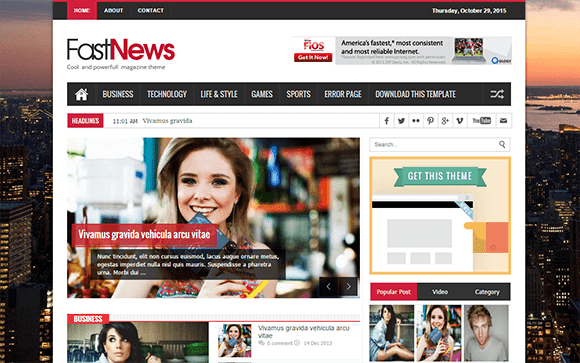 Free News Blogger Templates 30 News Blog Themes Templates Free