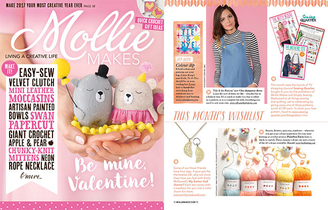 Mollie Makes - January 2017 (Issue 75)