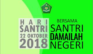 Begini Tampilan Logo Hari Santri 2018 Dan Tema Hari Santri 2018