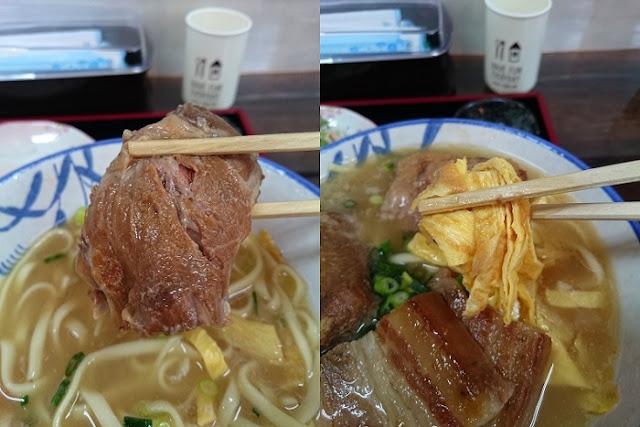 軟骨ソーキと玉子焼きの写真