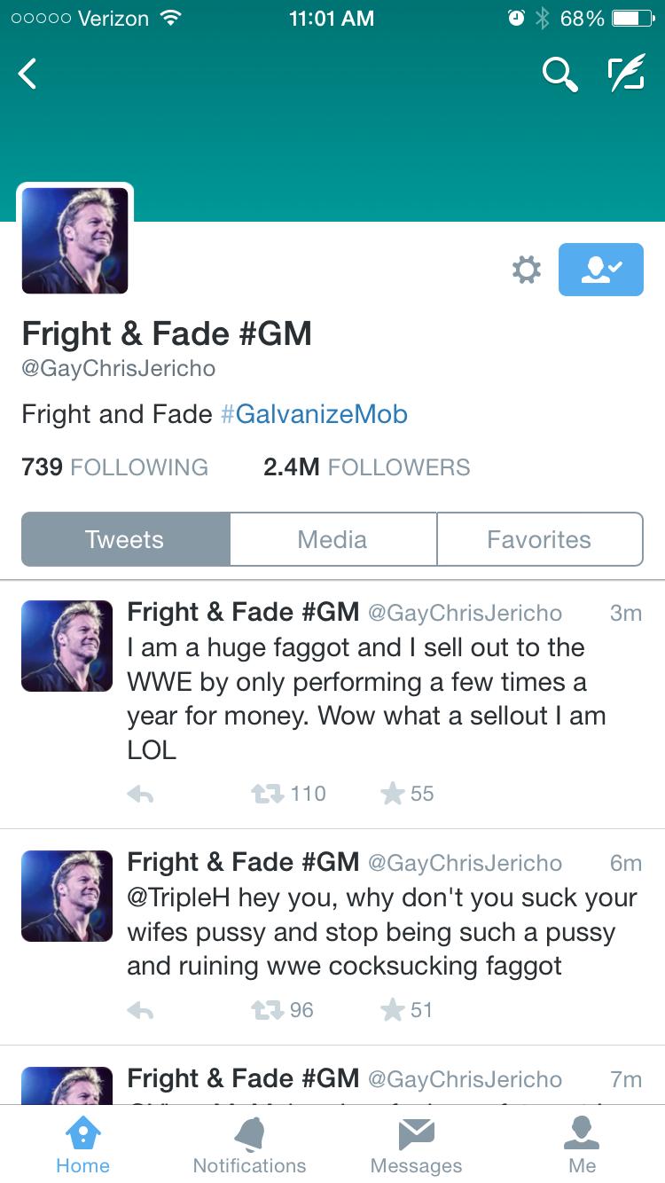 Chris Jericho Teve Seu Twitter Hackeado - Noticias De ...