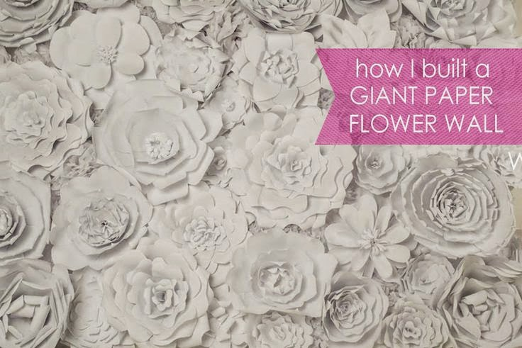 Tutorial pared photocall decorada con flores de papel gigantes hechos a mano