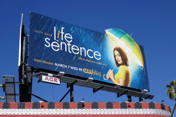 Life Sentence Umbrella cut-out billboard
