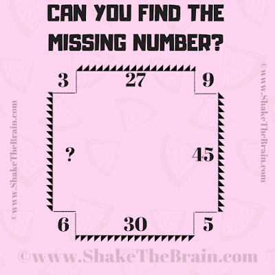 In this Math Picture Puzzle, your challenge is to find the missing number