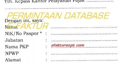 Contoh Surat Permintaan Database E Faktur Yang Hilangrusak
