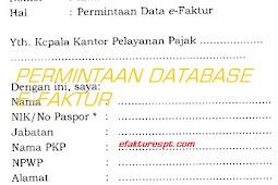 Contoh Surat Permintaan Database e-Faktur Yang Hilang/Rusak