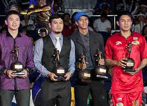 Gary David, Mark Caguioa, Arwind Santos and James Yap