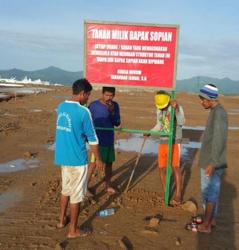 Pemilik Lahan Segel Lokasi Pembangunan Pelindo III