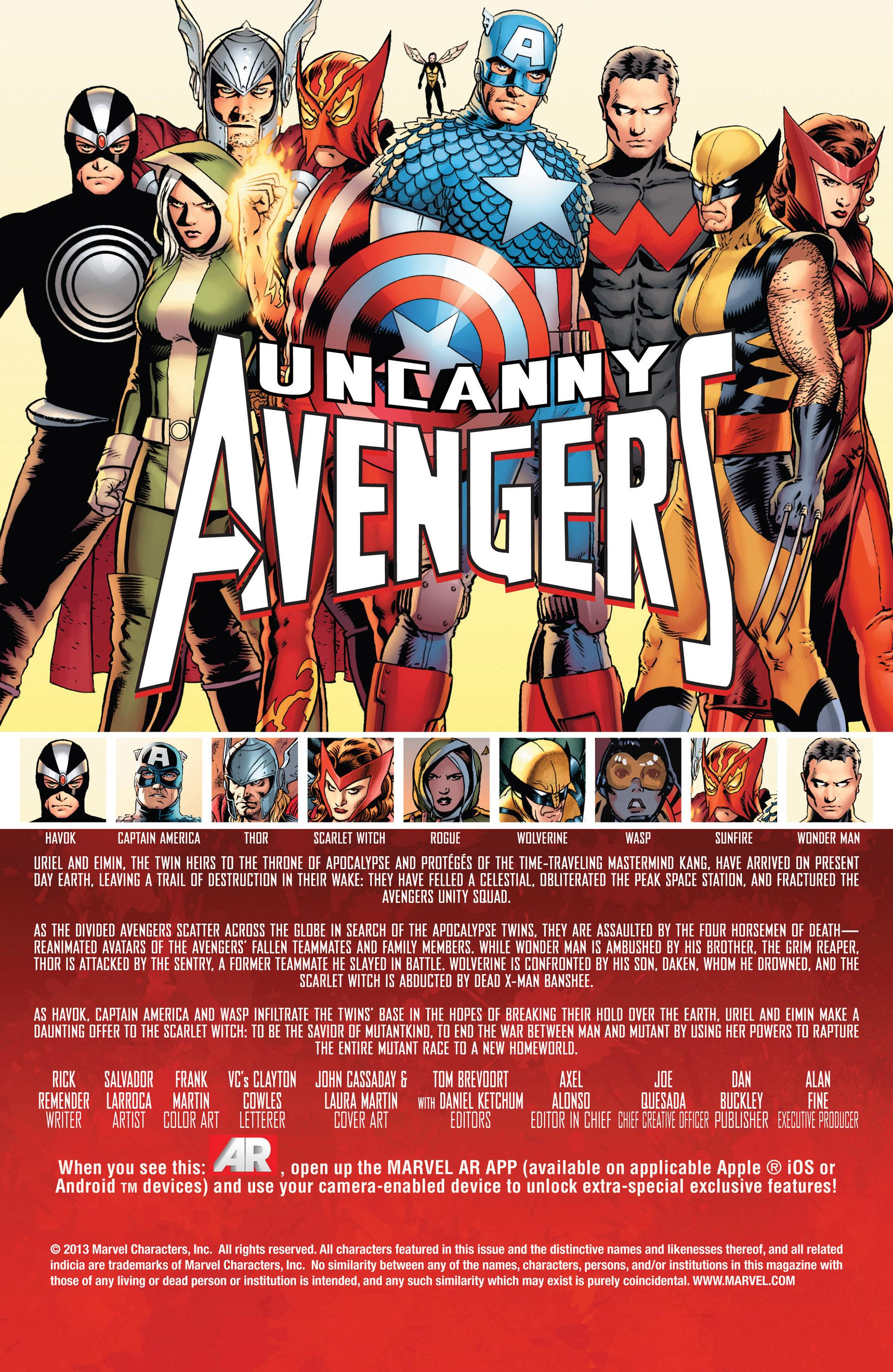Read online Uncanny Avengers (2012) comic -  Issue #12 - 2