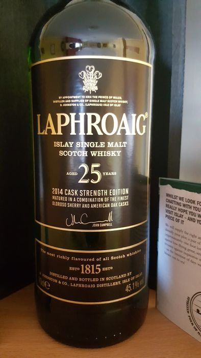 Rare Laphroaig 25 years old - bottled 2014 - cask strength