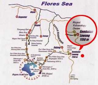 Rinjani ascent route: Sembalun or Senaru