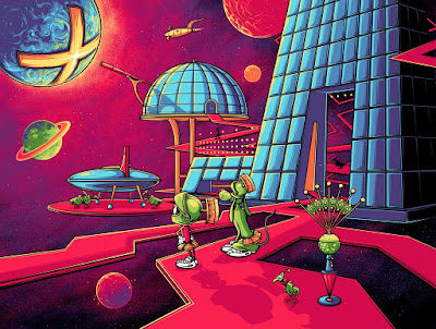 "Looney Tunes ""Where's the Kaboom?!"" Giclee Print by Dan Mumford x Bottleneck Gallery"