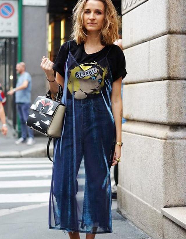 Transparência como sobreposição é a nova moda entre as fashionistas