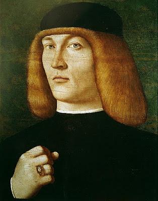 Gentile Bellini, frère de Giovanni Bellini : Portrait d'un jeune homme (1429_1507)
