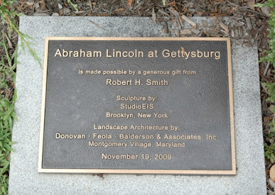 President Abraham Lincoln Statue in Gettysburg Pennsylvania