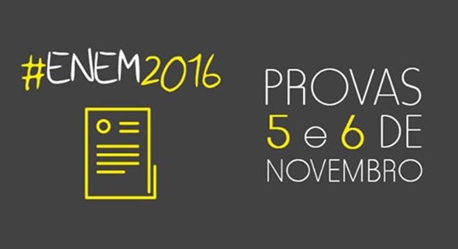 Local da prova do ENEM 2016 será divulgado dia 18 de Outubro