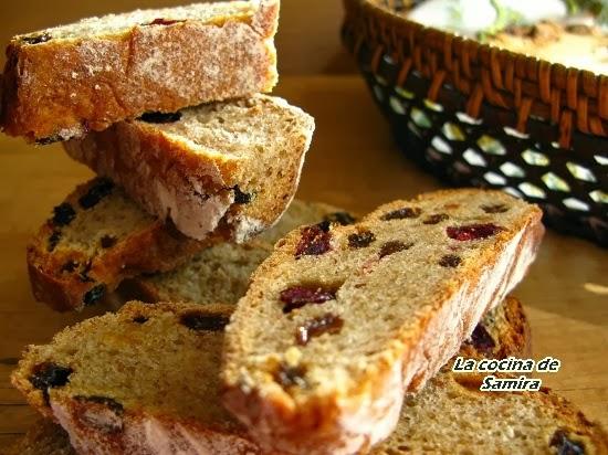 Pan de arándanos y canela