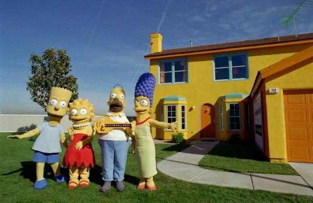 Versión real de la casa de la familia de los Simpson