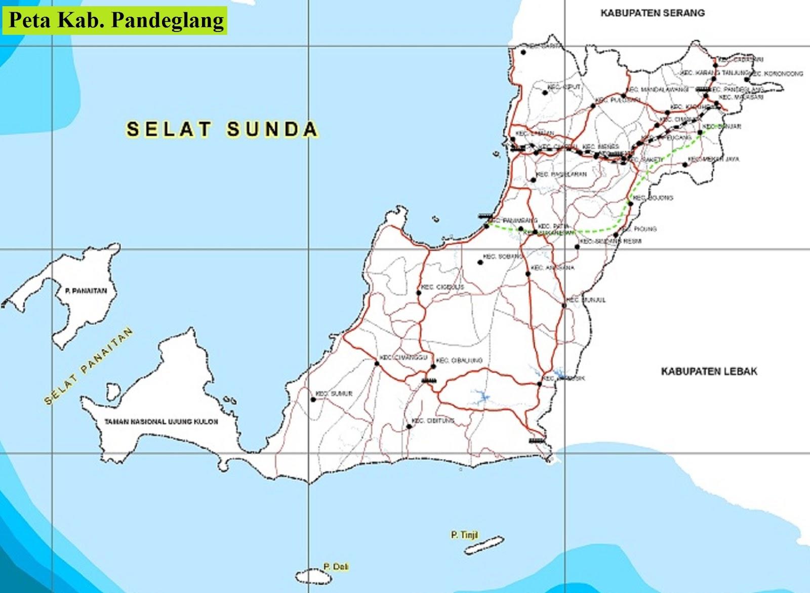 Peta Kabupaten Pandeglang HD