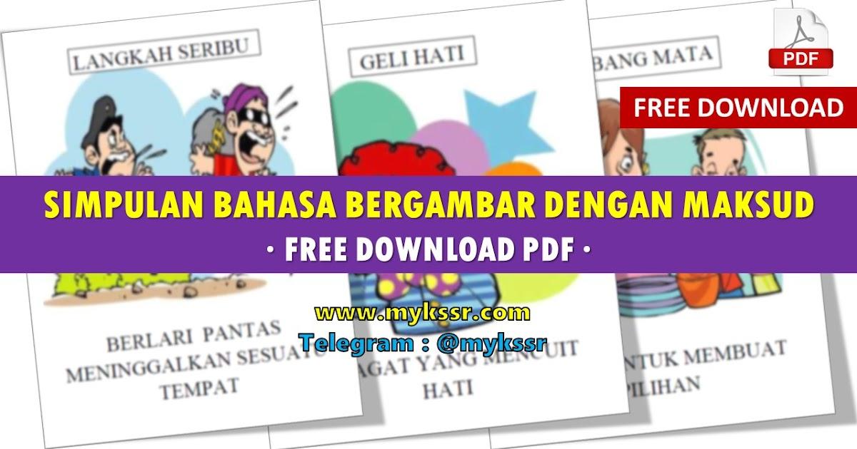 Simpulan Bahasa Bergambar Dengan Maksud Free Download PDF