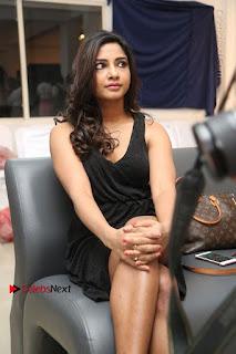 Telugu Actress Kamna Singh Stills in Black Dress at Bharat Thakur Art Exhibition Launch  0153.jpg