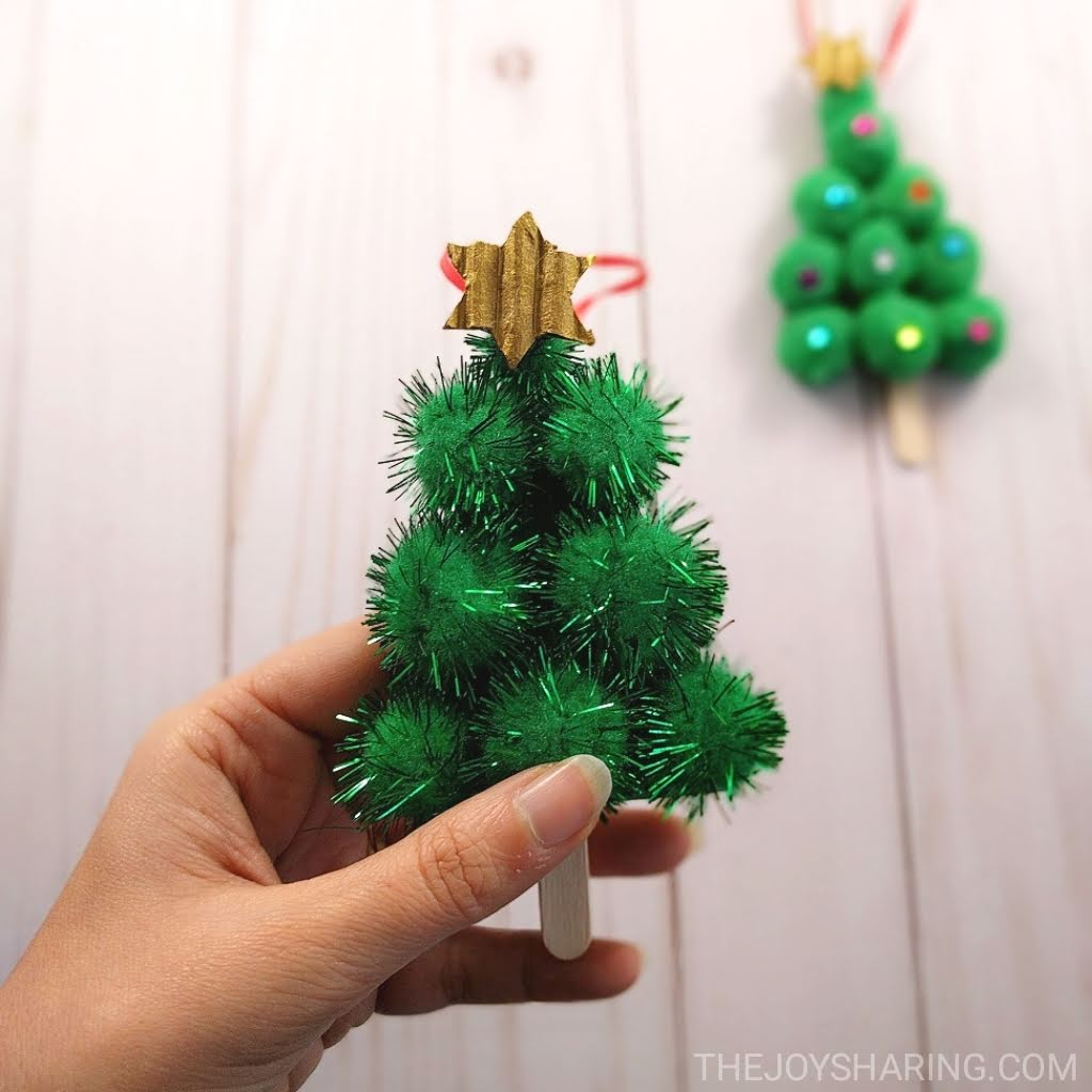Pom-Pom Christmas Tree Ornament - The Joy of Sharing
