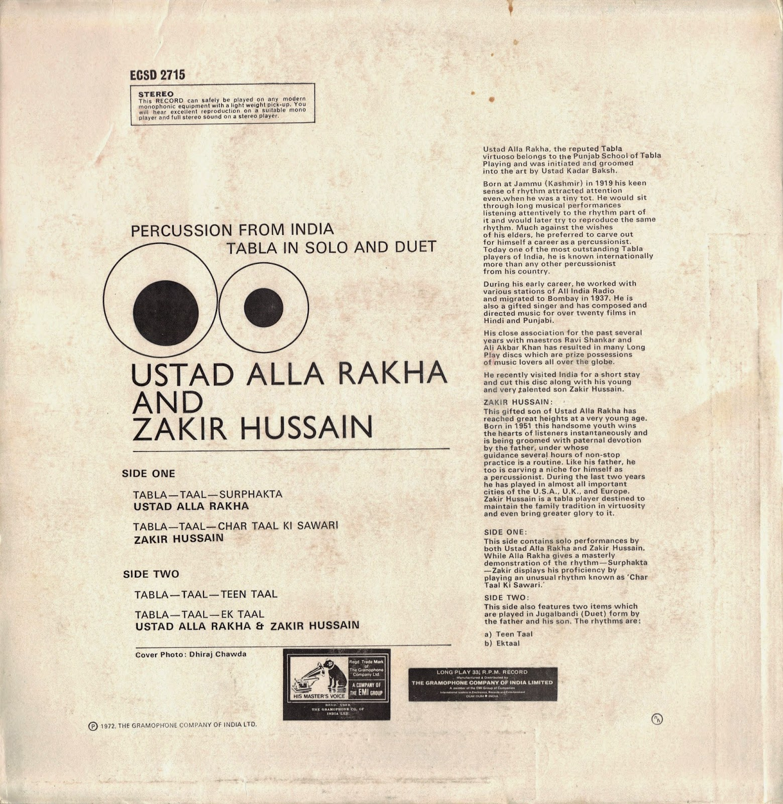 Oriental Traditional Music from LPs & Cassettes: Alla Rakha