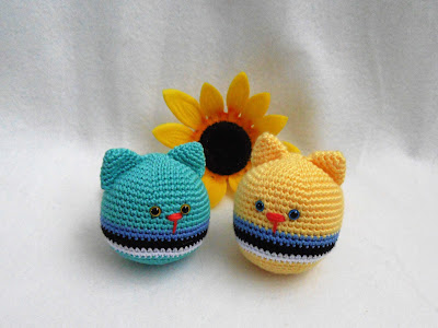 Cat stressball.Free pattern.