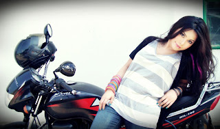 Tisma Bangladeshi Pop Singer On Bike