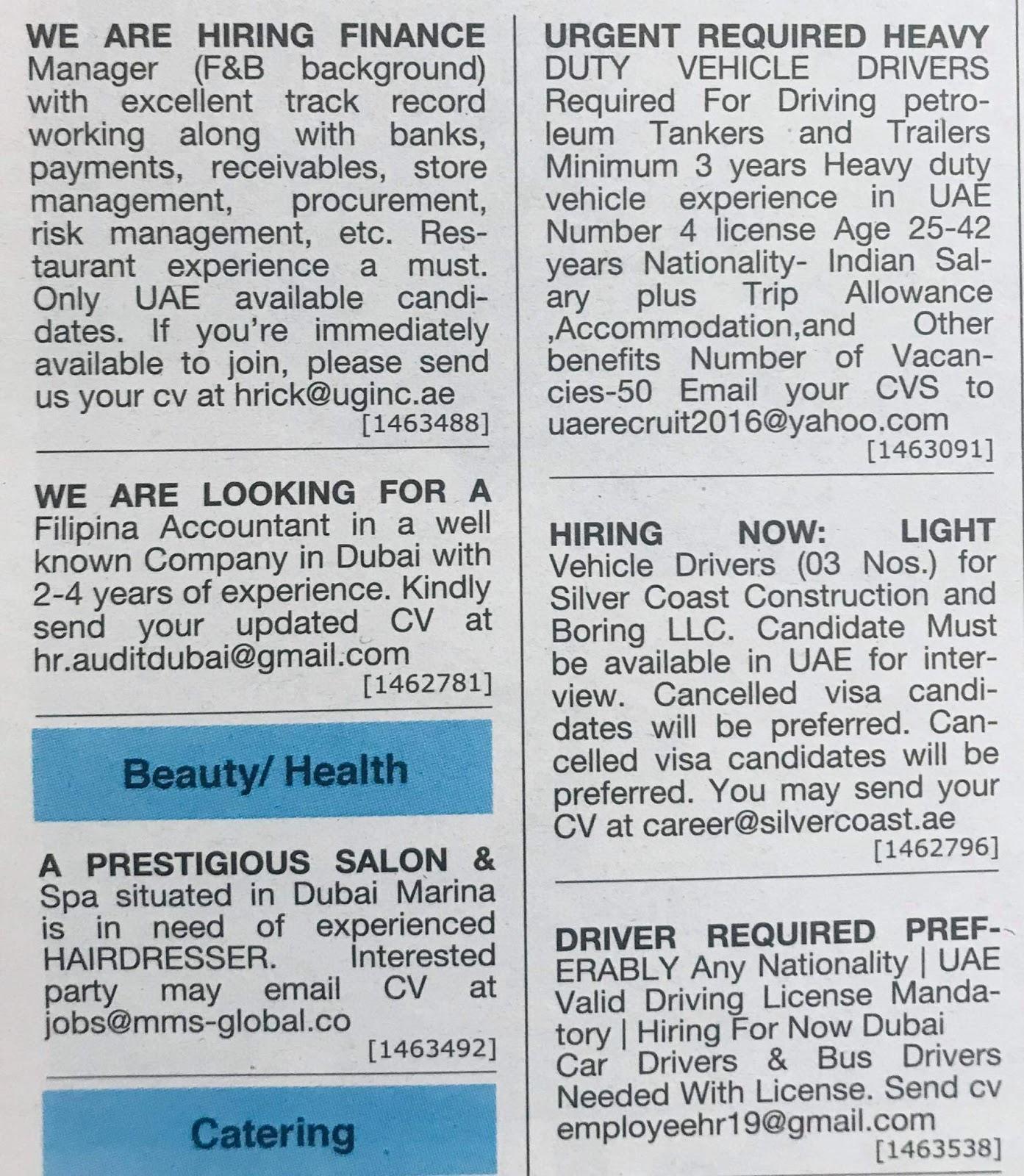 Career in UAE Local Hiring Jobs Khaleej Times-UAE-1612933