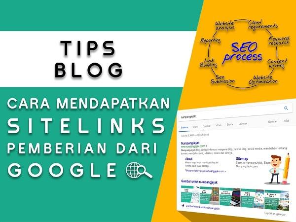pembahasan dan cara mendapatkan sitelink blog dari google