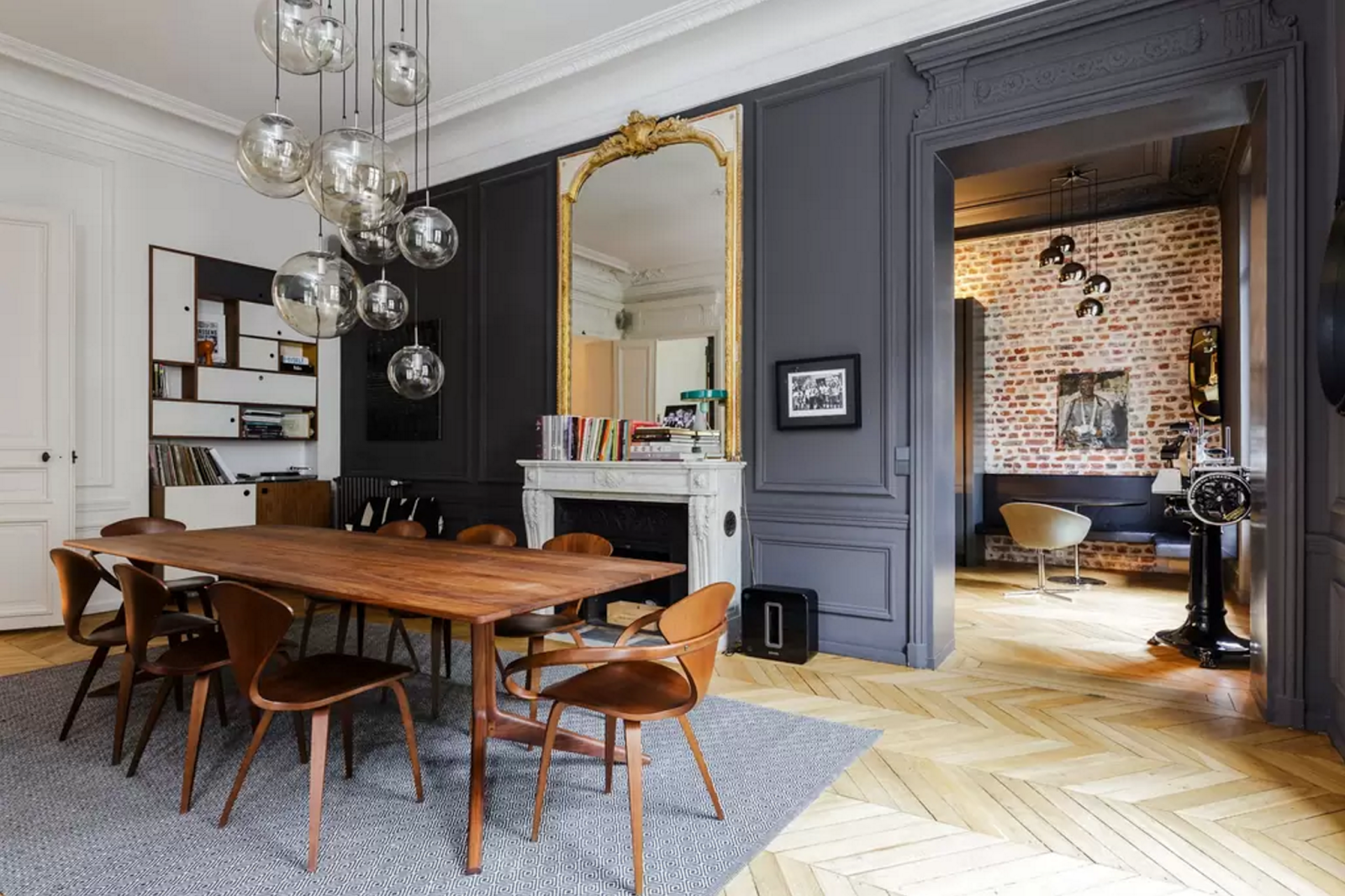 design attractor: Spectacular Parisian Apartment with Mid Century ...